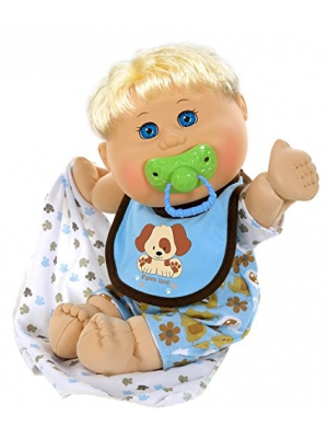 "Cabbage Patch Kids 12.5"" Naptime Babies - Blonde/Blue Eye Boy (Dog Jumper)"