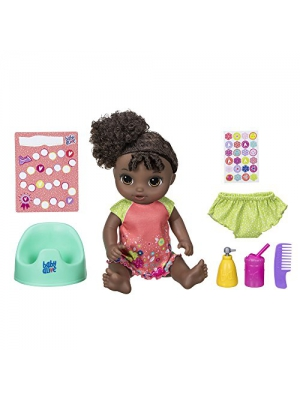 "Baby Alive Potty Dance Baby: Talking Baby Doll with Black Curly Hair, Potty, Rewards Chart, Undies and More, Doll That ""Pees"" on Her Potty, for Girls and Boys 3 Years Old And Up"