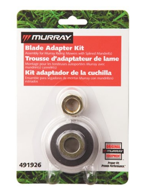 Murray Lawn Mower Blade Adapter Kit Splined Jackshafts 491926MA