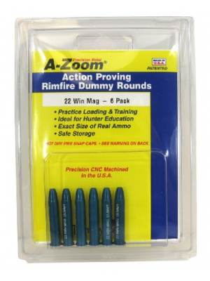 A-Zoom 6-Pack Precision Snap Caps fits 22 Win Mag Action Proving Dummy Rounds