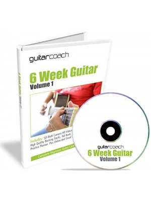 Learn To Play Guitar: Includes 50 HD Videos, 100 Page Course Guide, Backing Tracks, Tab Book, Chord Chart & Practice Planner
