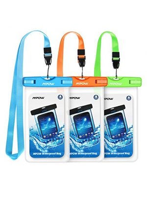 Mpow Waterproof Case, Universal IPX8 Waterproof Phone Pouch Underwater Phone Case Bag for iPhone X/8/8P/7/7P, Samsung Galaxy S9/S9P/S8/S8P/Note 8, Google Pixel/LG/HTC up to 6.0""