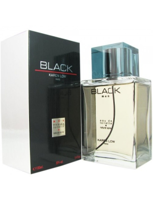 Karen Low Black for Men Eau de Toilette Spray, 100 ml, 3.3 Ounce