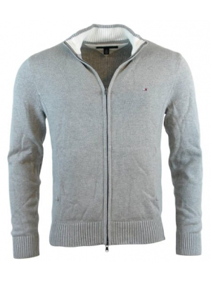 Tommy Hilfiger Mens Full-Zip Mock Neck Cardigan Sweater