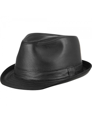 Wilsons Leather Mens Fedora Leather Hat