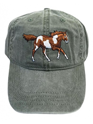ECO Wear Embroidered Wildlife Wild Mustang Horse Baseball Cap