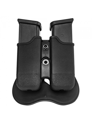 Double Stack Glock Magazine Pouch/Holder/Holster, for Glock 17, 19, 22, 23, 26, 27, 31, 32, 33, 34, 35, 37, 38, 39 etc. and Sig Sauer SP2022