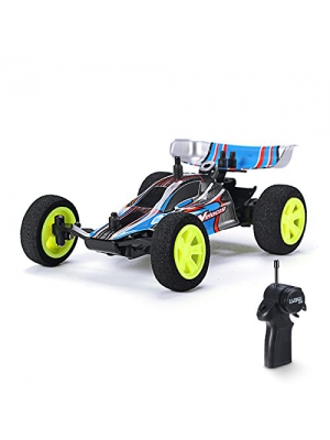 REALACC 1/32 Scale 2.4Ghz RC Car High Speed Racing Car Multiplier in Parallel Operate USB Charging Edition Radio Controlled RC Formula Car RC Toy (Blue)