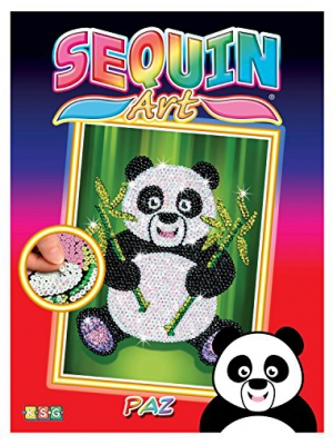 Sequin Art Red, Panda, Sparkling Arts and Crafts Picture Kit, Creative Crafts