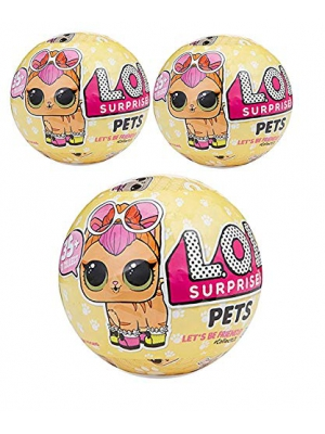 L.O.L. Surprise Pets Doll Series 3 - Wave 1 Mystery Unwrapping Toy - (3pk)