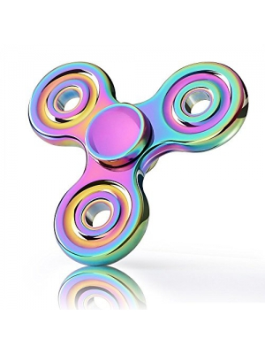 EpochAir Triangle Metal Rainbow Fidget Spinner, Stress Reliever Premium High-Speed EDC Focus Toy for Killing Time ADD, ADHD, Autism Adult Children