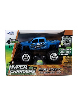 Jada Toys HyperChargers Just Truck 2014 Chevy Silverado R/C Vehicle, Blue