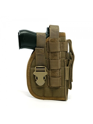 Yisibo Tactical Molle Nylon Modular Pistol Holster with Mag Pouch for Right Handed Shooters 1911 45 92 96 Glock
