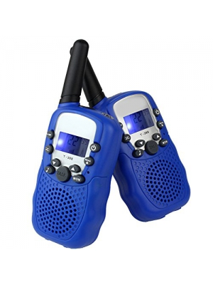LeeKer LK-R018 Walkie Talkies for Kids 2 Way Radio Toys with Flashlight VOX Function Practical Christmas Toys(Blue, 1 Pair)
