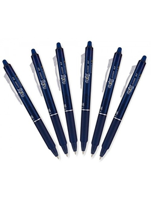 Pilot FriXion Clicker Retractable Erasable Gel Pens, Fine Point, Navy Blue Ink, 6 Pack