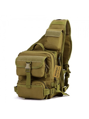 SUNVP Tactical Military Daypack Sling Chest Pack Bag Molle Laptop Backpack Large Shoulder Bag Crossbody Duty Gear For Hunting Camping Trekking