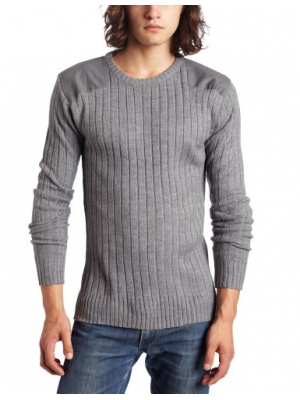 Southpole Men's Solid Long-Sleeve Pullover Utility Sweater