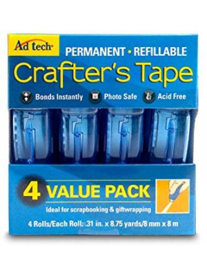 Adtech 05603 Glue Runner Permanent 35Yds Total (4 pack Each), single pack, Multicolor