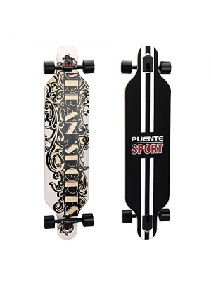 Puente Professional Complete Drop Through Longboard Skateboards(41-Inch)