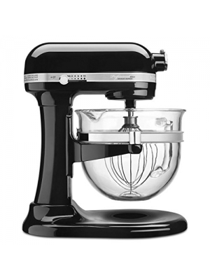 KitchenAid Professional 6500 Design Series Onyx Black Bowl-Lift Stand Mixer with 6 Quart Glass Bowl