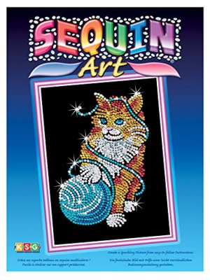Sequin Art Blue, Kitten, Sparkling Arts and Crafts Picture Kit, Creative Crafts
