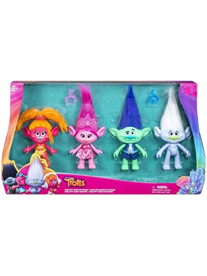 "Dreamworks Troll Dolls 4 Pack Exclusive 9"" Tall"
