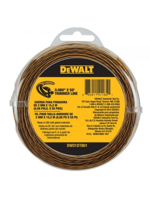 DEWALT DWO1DT801 String Trimmer Line, 50-Feet by 0.080-Inch