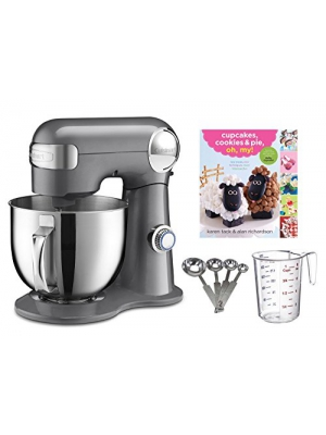 Cuisinart 5.5-quart Mixer + Measuring Spoon Set + Cupcake Book + Measuring Cup