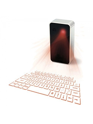 ONEMORES(TM) Wireless Bluetooth Laser Projection Virtual Keyboard Mouse for Tablet Phone Laptop