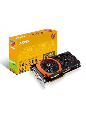 MSI Limited GAMING Edition GeForce GTX 980 TI 6GB OC DirectX 12 VR READY (GTX 980TI GAMING 6G GOLDEN EDITION)