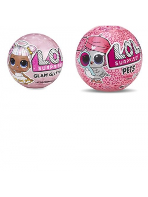 L.O.L. Surprise! Bundle of 2 Dolls LOL Glam Glitter Doll & LOL Eye Spy Pets Series