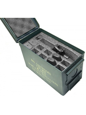Case Club 1 Pistol & 11 Magazine Holder .50 Cal Ammo Can Foam (Pre-cut, Closed Cell, Military Grade Foam)