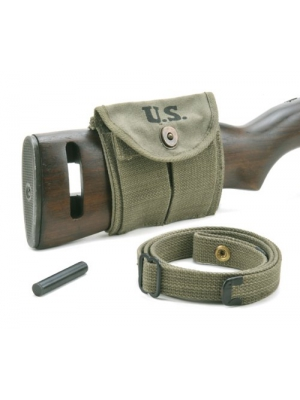 M1 Carbine Sling Oiler & Buttstock Type Pouch OD Green Dated 1944