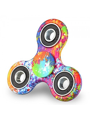 Mothca Tri Spinner Fidget Hand Toy Stress Reducer 3-5 Minutes Smooth Spin Camouflage Multi-Color High Speed Finger Spinner Perfect Gift For ADD/ADHD/Anxiety Autism Kids and Adult (Graffiti)