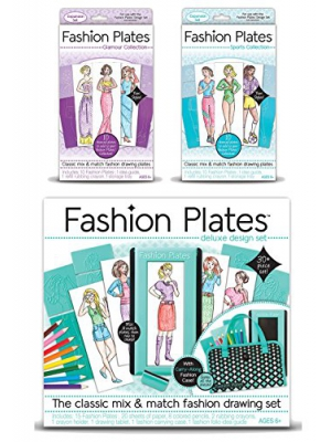 Fashion Plates Deluxe Kit with Glamour and Sports Expansion Packs