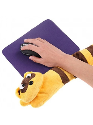iGrove PC Laptop USB Hand Warmer Heating Cute Little Raccoon Elongated Shape Hand Warming Mat Heating Mat for Wrist iG-1166