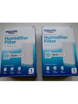 2-Pack Equate Replacement Humidifier Filter PCWF813 For Use With Pro Care Cool Mist Humidifiers Fits Models: ProCare PCCM-832N/AC813, Relion RCM-832N, Robitussin, Duracraft, Sesame Street