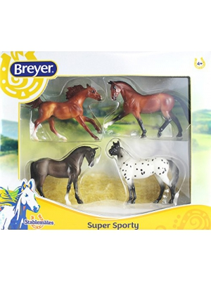 Breyer Stablemates Super Sporty Four Horse Set