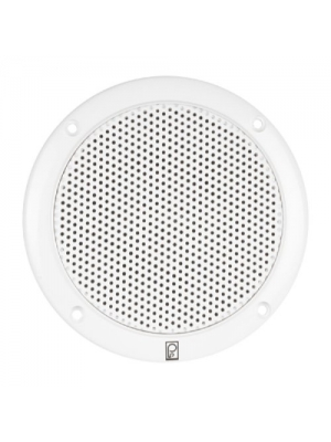"POLY PLANAR POL-MA-4056-W/80W (Pair) 2-Way Coaxial 6"" White Round Integral Speaker, MFG# MA-4056-W, White, low magnetic field, integral plastic grill. Hardware and speaker wire included."