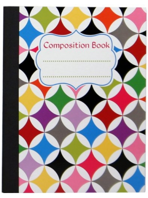 "Studio C 13708 Sugarland Collection Composition Notebooks, 9.75"" x 7.5"", 100 Wide Ruled Sheets, Multicolored, 6 Pack Assortment"