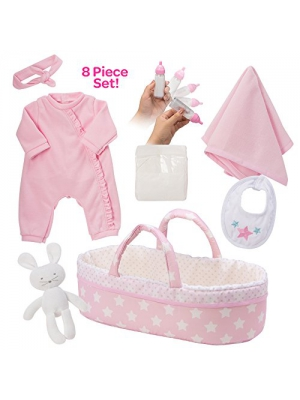 "Adora Adoption Baby Essentials ""It's a Girl"" 16 Inch Girl Clothing Toy Gift Set for 3 Year Old Kids and up"