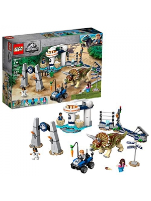 LEGO Jurassic World Triceratops Rampage 75937, New 2019 (447 Pieces)