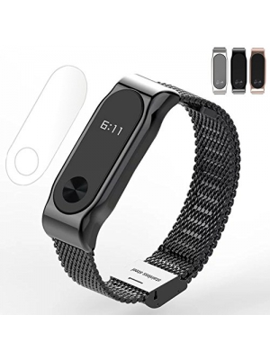 Thindom Metal Strap Band Bracelet For Xiaomi Band 2 Wristbands Screwless Stainless Steel Bracelet For Mi Band 2
