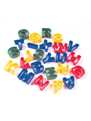 Creativity Street Dough Cutters, Capital Letters, 26-Pack