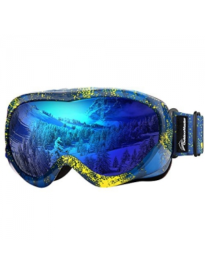 e3d81f1f0da8 OutdoorMaster Kids Ski Goggles - Helmet Compatible Snow Goggles Boys    Girls 100% UV Protection