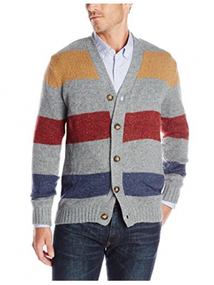 Unionbay Men's Long-Sleeve Damon Nep Button-Front Cardigan Sweater