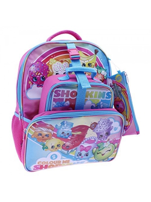 Shopkins 16 Full Size Backpack with Lunch Kit & Pencil Case