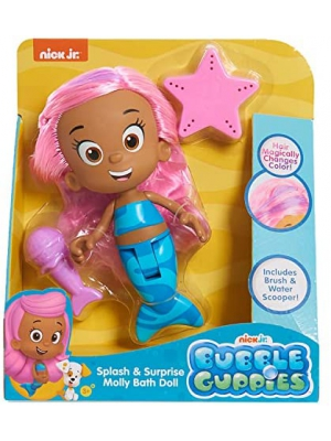 Bubble Guppies Molly Bath Doll, Multi-Color