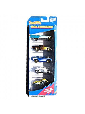 Hot Wheels '50s Cruisers Gift Pack Five 5 Collectible 1:64 Scale Die Cast Cars