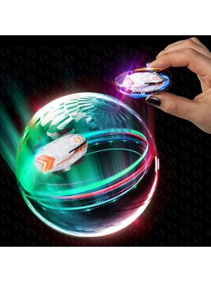 Whipz Micro Racers Mini Cars - Micro Pocket Racer LED Light Up Glow in The Dark Car Spinner Toys for Boys or Girls, Keychain Cars w/ Balls for Kids